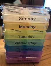 7 Day Weekly Pill Box Daily Organiser Medicine Tablet Storage Dispenser