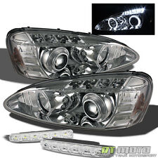 For 04-08 Pontiac Grand Prix Dual Halo Projector Headlights+Smd DRL Bumper Lamps