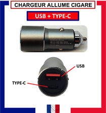 ALLUME CIGARE USB + TYPE-C / CHARGEUR RAPIDE 5 AMPERE / 22,5 WATT POUR VOITURE