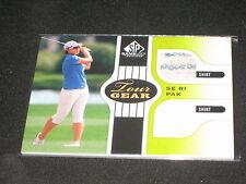 Se Ri Pak Golf 2013 Topps Certified Authentic Player Worn Memorabilia Card