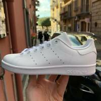 SCARPE SNEAKERS ADIDAS ORIGINALS STAN SMITH  total white Junior bianche