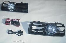 FRONT FOG LIGHTS LAMPS GRILLE SET FOR VW GOLF 4 MK4 IV 1997-2006 + WIRING LOOM