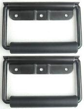 2 x Manico Pieghevole 130 x 77 mm - Maniglia con Molla Montaggio nero - NUOVO