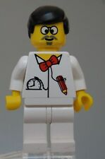 Lego Minifig MALE w/White Legs,Black Hair Man Teacher Professor Math Science