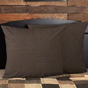 Kettle Grove Quilt Set Black Tan Plaid Farmhouse Choose Size & Accessories VHC