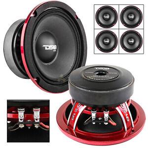 "4 DS18 PRO-EXL64 6.5"" Midrange Loudspeaker 600 Watts Max Power 4 Ohm Competition"