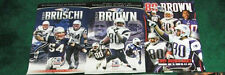 6 POSTER LOT MCGINEST BRUSCHI LIGHT 2 TROY BROWN FAULK GRONK PATRIOTS TICKET