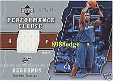 2005-06 UD PERFORMANCE CLAUSE JERSEY: ANTAWN JAMISON #73/250 REDEMPTION WIZARDS