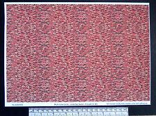 O gauge (1:48 scale) multi-colour brick -  self adhesive vinyl - A4  sheet