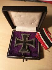 Eisernes Kreuz 1. Klasse 1914, Silber 800, mit Originalbox und losem Band