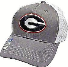 factory price a3551 412a2 GEORGIA UGA BULLDOGS ADULT ADJUSTABLE SNAPBACK WHITE TRUCKER MESHBACK HAT  CAP