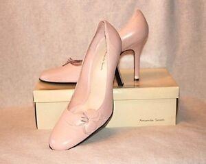 AMANDA SMITH NIB High Heels  Rose Pink Sail Leather Shoes Sz 10M ))) NEW (((