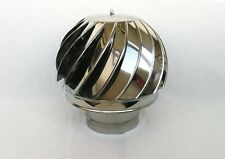 5'' / 125mm CHIMNEY SPINNER COWL Stainless Steel Rotating Wind Spinning Vent Cap