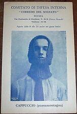 """Comitato Difesa """"CORREDO DEL SOLDATO"""" cartolina militare CAPPUCCIO- WAR 1915 WWI"""