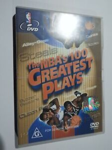 The NBA's 100 Greatest Plays DVD Basketball Dunks Blocks Steals VERY GOOD COND