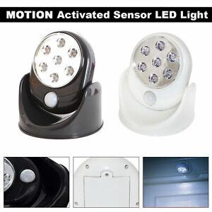 1-3pcs Battery Power Motion Sensor Security 7LED Light Garden Outdoor Indoor PIR