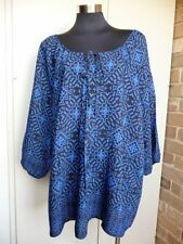 Viscose Summer/Beach 3/4 Sleeve Machine Washable Tops & Blouses for Women