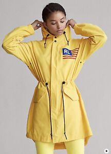 Polo Sport Windbreaker Rain Jacket Yellow Lemon Rind Women's Small Ralph Lauren