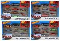 Hot Wheels Cars Set 10 Pack 1:64 Scale Multi Colour Cars Vehicle Toy Gift New