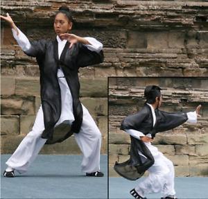 Multicolor martial arts clothing tai chi clothing beautiful kung fu veil coat