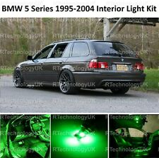 GREEN PREMIUM BMW 5 SERIES E39 ESTATE INTERIOR FULL LED BULBS LIGHT KIT SET