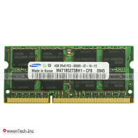 New Samsung 4GB PC3-8500S DDR3-1066MHz 204pin SODIMM Latop Notebook Memory 1.5V