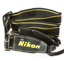 Cámara De Tejido Marca Nikon Correa para el cuello/correa para el Hombro-Negro y Amarillo