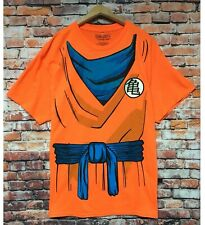Dragon Ball Z DBZ Goku T Shirt Tee Mens Large Orange Cosplay Costume NEW
