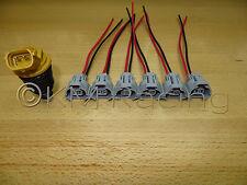 6x Denso Bottom Slot Side Feed Fuel Injector Connectors For Mazda Subaru Toyota