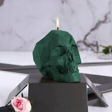 Candellana - Big Skull Candle - Aligator Green