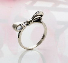 Authentic Pandora Silver Ring 197232CZ Brilliant Bow Statement Ring Size 6/52