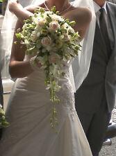 Real Fresh Wedding Flowers, Bride /Bridesmaid Bouquets, Buttonholes, Centrepiece