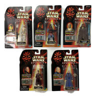 Star Wars EPISODE 1 CommTech Action Figures Lot Of 5 1998 1999 Hasbro NEW