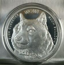 Dogecoin Proof like 1 oz .999 fine silver commemorative crypto currency bitcoin