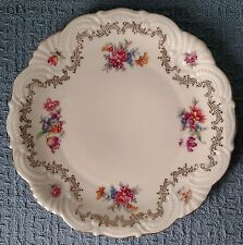 "Vintage ~ 7¾"" DECORATIVE CAKE PLATE ~ Bavaria Elfenbein Porzellan  ~ White /Gold"