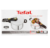 Tefal Secure 5 Neo 6L Stainless Steel Pressure Cooker Induction