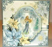 Handmade Greeting Card 3D Christmas With An Angel  W/ Sentiment