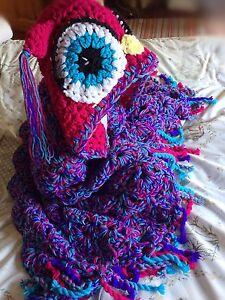 Crochet Hooded Owl Blanket Chunky Lapghan gift for her handmade Kids Baby UK