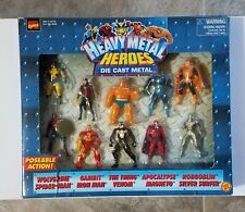 Marvel Heavy Metal Heroes 12 Die Cast Metal Action Figures Toy Biz 1997 NEW