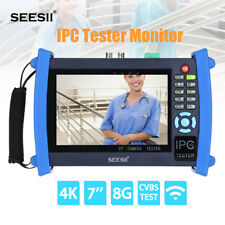 "4K 7"" IPC CCTV Camera Monitor Tester CVBS Test IP Discovery 1920*1200 ONVIF WIFI"
