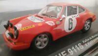 1/43 PORSCHE 911S RALLYE DE MONTECARLO 1970 WALDEGAARD HELMER COCHE METAL ESCALA