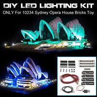 USB DIY LED Light Lighting Kit For LEGO 10234 Sydney Opera House Bricks Toy ☥