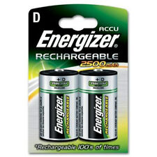 Energizer Accu 2500mAh D Rechargeable Batteries - 2 Pack New