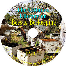 288 Books DVD, Ultimate Bee & Beekeeping Library, Beekeeper Queen Bees Apiary