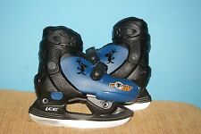Monster on Ice Junior Boys skates ice skating Blue Adjustable Shoes size J12-J9