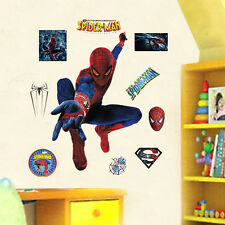 Removable Spider Man Wall Stickers Boys Bedroom Decor Vinyl Mural DIY Decal Art