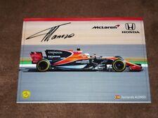 Fernando ALONSO (McLaren MCL 32) - 2017 CZE Karte/card 10x15 cm