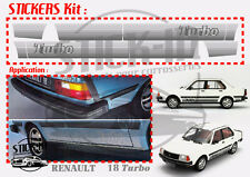 Renault 18 Turbo R18 - Autocollants Stickers Kit Complet 100% IDENTIQUE ORIGINE