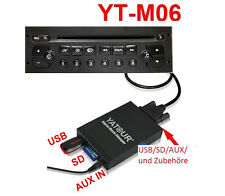 Aux IN usb sd aux In Adaptateur mp3 rd3 CLARION vdo Blaupunkt peugeot 106 206 CD
