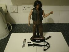 "ZC TOYS WALKING DEAD 12"" 1/6 SCALE DARYL DIXON + CLOTHES DISPLAY STAND + ACCESSO"